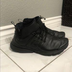 Men's Nike black mid utility presto sneakers shoes